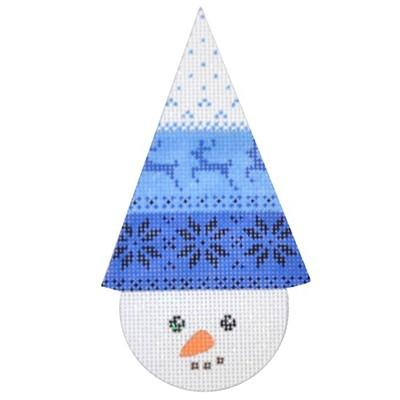 Snowcone Blue Reindeer Canvas