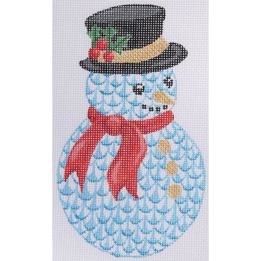 Herend Snowman Ornament Canvas - needlepoint