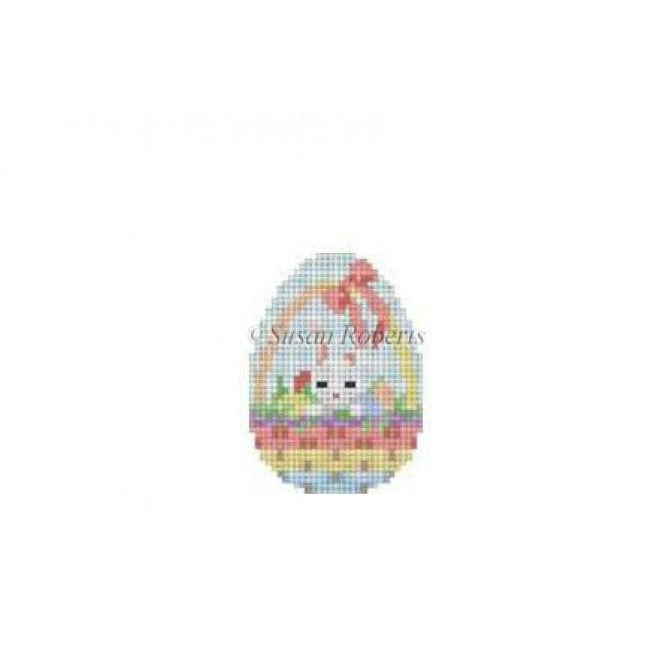 Bunny in a Basket Mini Egg Canvas