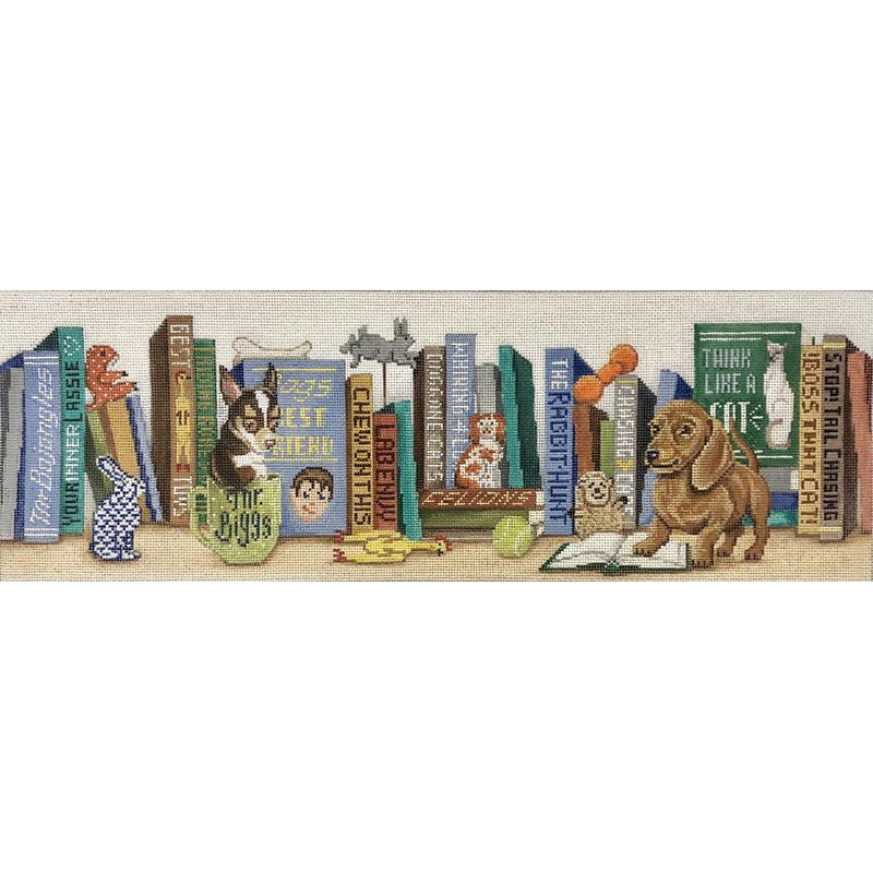 A Dog's Life Bookshelf Canvas