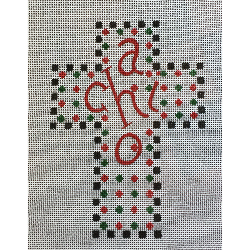 Alpha Chi Omega Cross Canvas