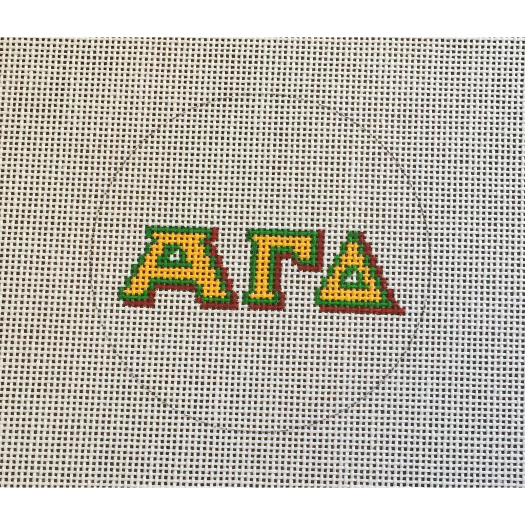 Alpha Gamma Delta Round Canvas