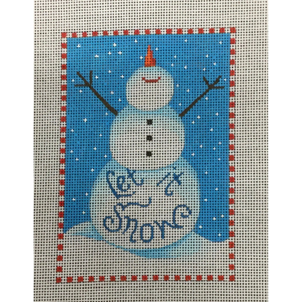 Let It Snow Snowman Canvas - needlepoint
