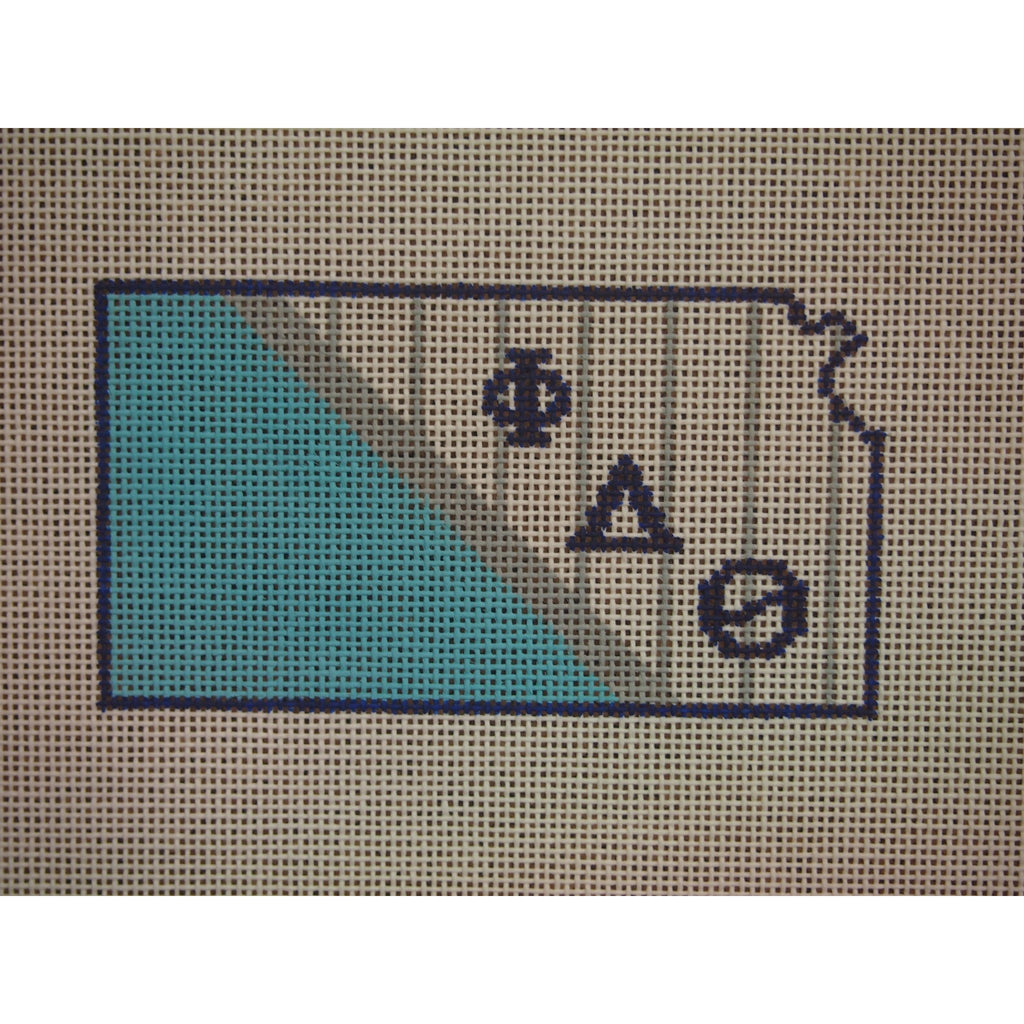 Kansas Phi Delta Theta Canvas - needlepoint