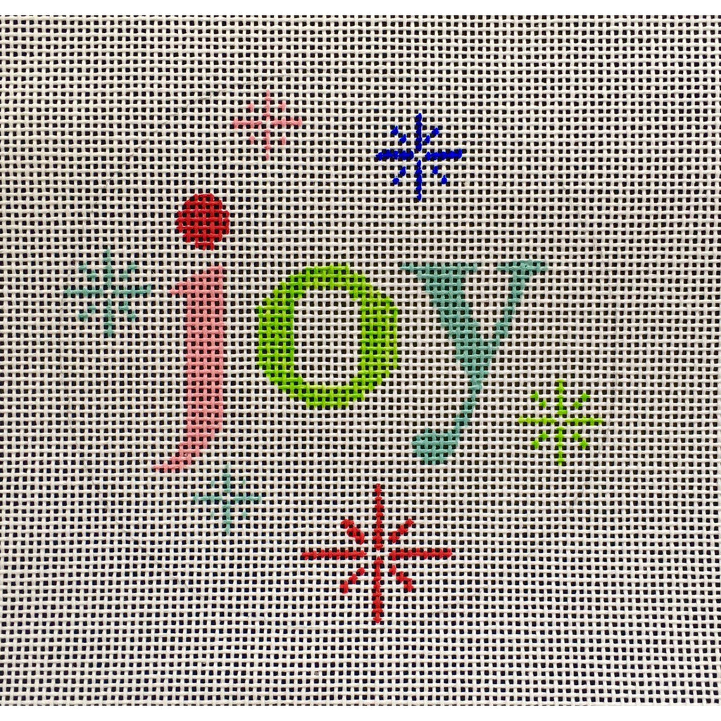 Joy Round Canvas - needlepoint