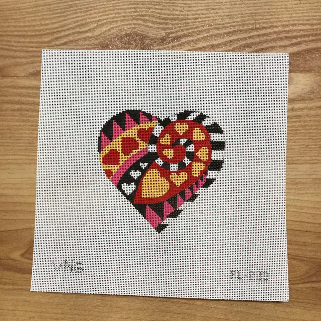 Wonderland Heart Canvas