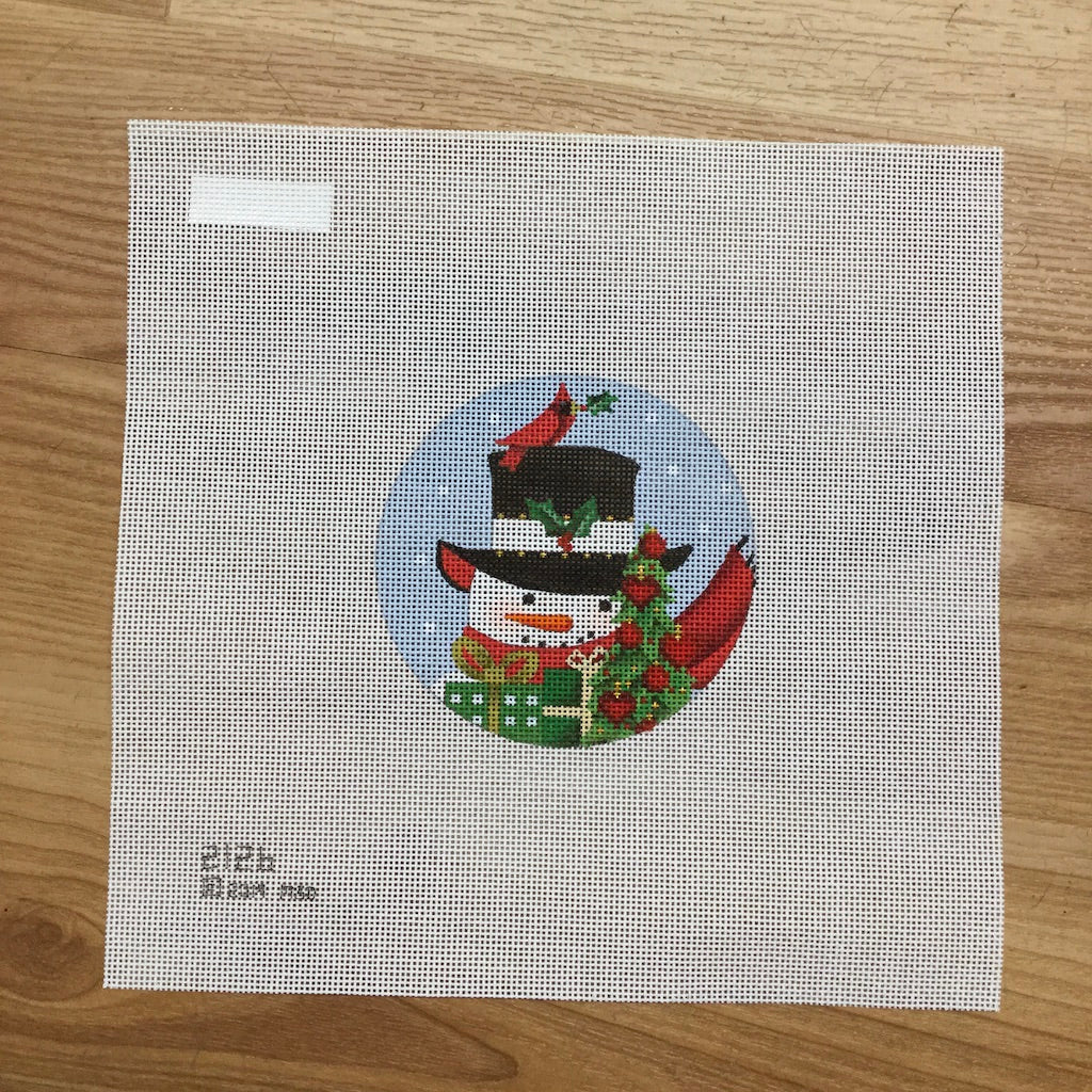 Snowman with Tree Needlepoint Canvas