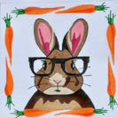 Rabbit with Glasses Canvas