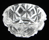 Waffle Open Salt Salt Dish Vintage Individual Clear 1920s USA Salt Cellar