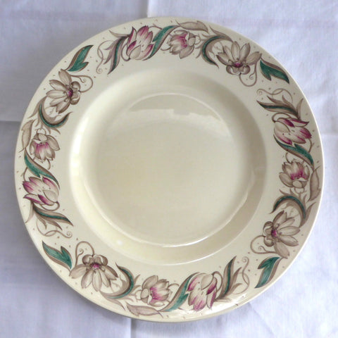 Susie Cooper Endon 10 Inch Dinner Plate 1940s England Retro Tulips Smooth Rim