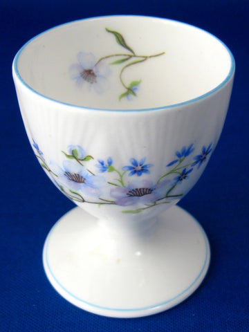 Shelley Egg Cup Blue Rock Dainty Shape Pedestal Eggcup 1950s English Bone China