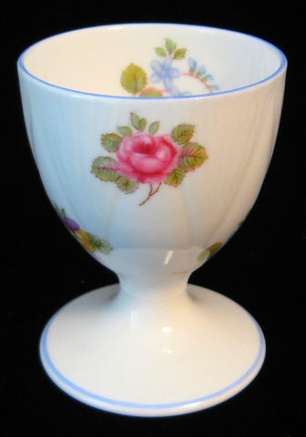 Shelley Eggcup Rose Pansy Forget Me Not Dainty Eggcup 1950s English Bone China