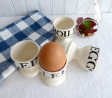 Emma Bridgewater Egg Cups 4 Boiled Egg Black And Marmalade Toast Eggcup Seconds