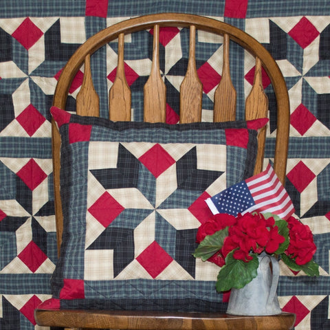 Patriot Star Toss Pillow by Retro Barn