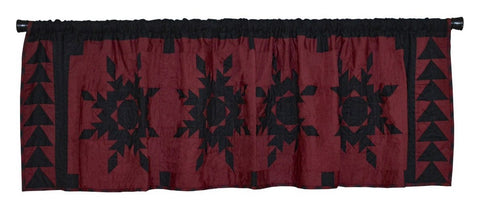 Black Feathered Star Valance