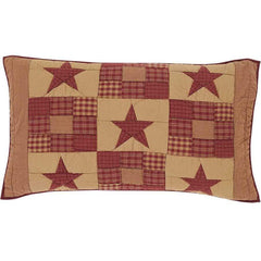 Ninepatch Star King Sham - Retro Barn Country Linens