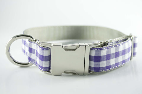 Royal Purple Gingham Collar