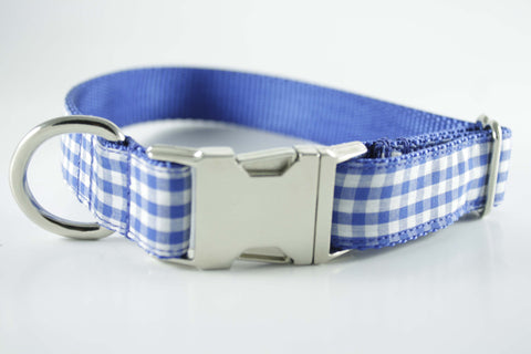 Royal Blue Gingham Collar