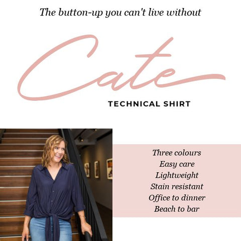 The button up you can't live without - Styling you the label's Cate technical shirt