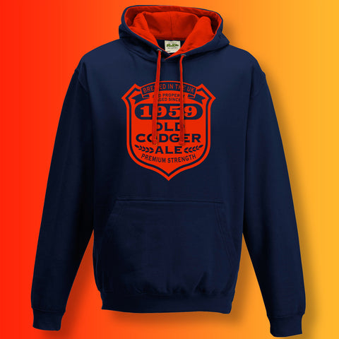 Brewed In The UK 1959 Old Codger Ale Contrast Hoodie