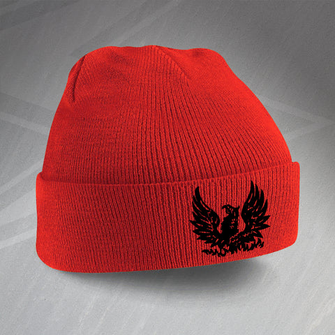 Retro Cirencester Beanie Hat with Embroidered Badge