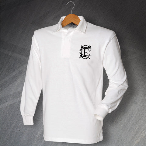 Retro Corinthian Long Sleeve Football Shirt with Embroidered Badge