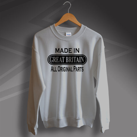 Made In Great Britain All Original Parts Unisex Sweater