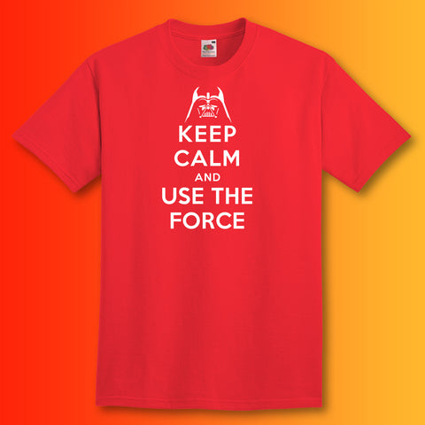Use The Force T-Shirt with Keep Calm Design