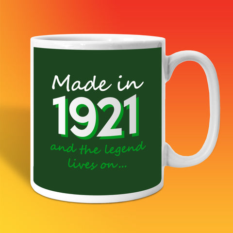 Made In 1921 and The Legend Lives On Bottle Green