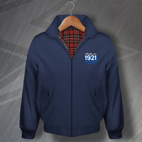 Made in 1921 and The Legend Lives On Embroidered Classic Harrington Jacket