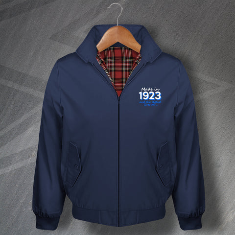 Made in 1923 and The Legend Lives On Embroidered Classic Harrington Jacket