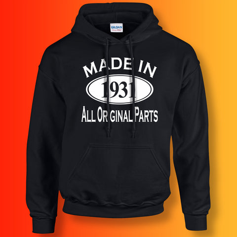 Made In 1931 Hoodie Black
