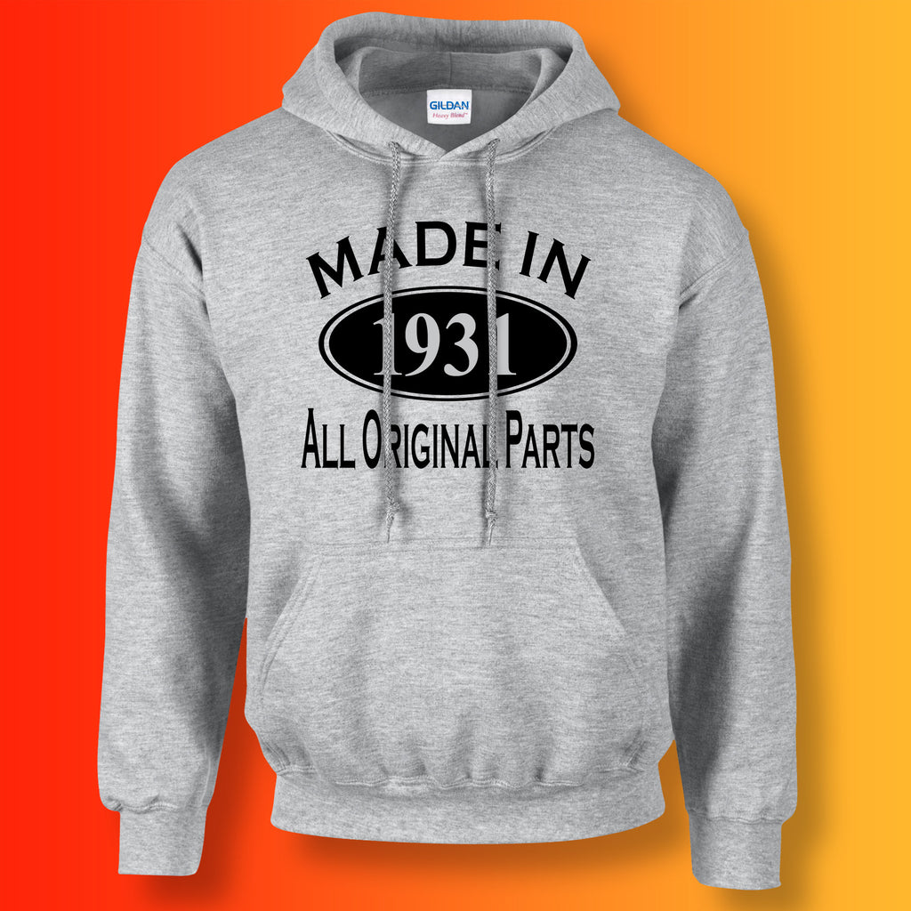 Made In 1931 Hoodie Heather Grey