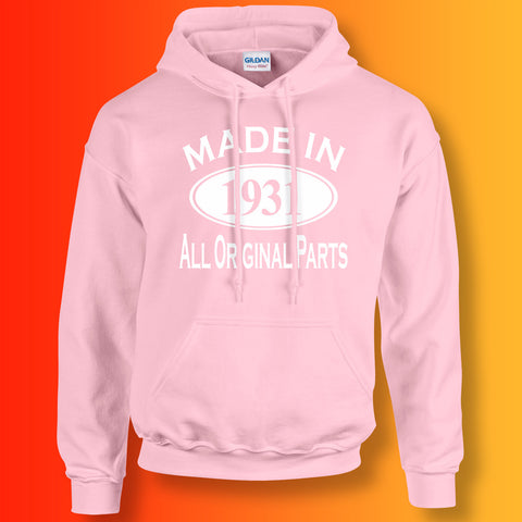 Made In 1931 Hoodie Light Pink