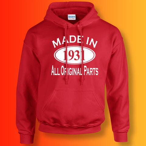 Made In 1931 Hoodie Red