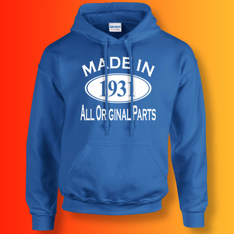 Made In 1931 Hoodie Royal Blue