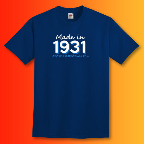 Made In 1931 and The Legend Lives On Unisex T-Shirt
