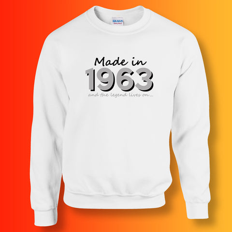 Made In 1963 and The Legend Lives On Sweater White