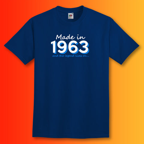 Made In 1963 and The Legend Lives On Unisex T-Shirt