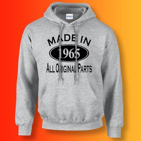 Made In 1965 Hoodie Heather Grey