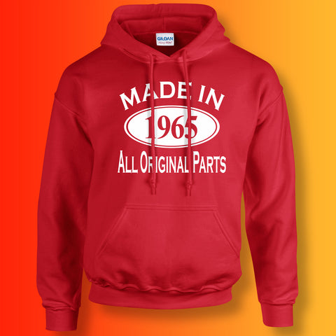 Made In 1965 Hoodie Red