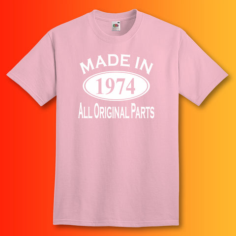 Made In 1974 T-Shirt Light Pink