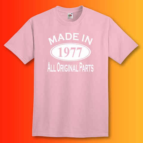 Made In 1977 T-Shirt Light Pink