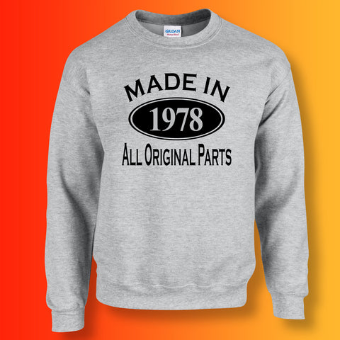 Made In 1978 All Original Parts Unisex Sweater