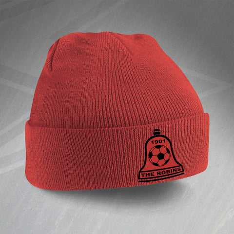 Retro Bosham The Robins Beanie Hat with Embroidered Badge