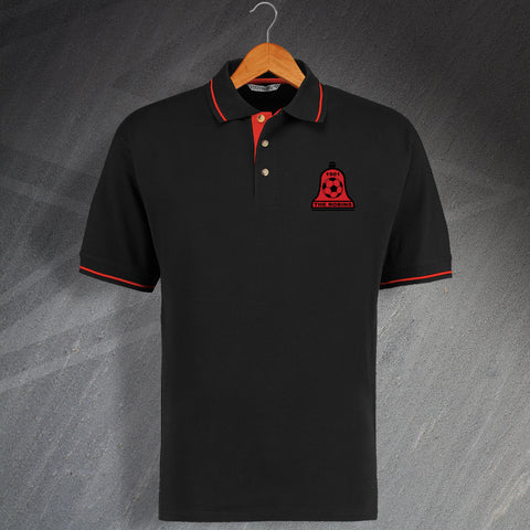 Retro Bosham The Robins Embroidered Contrast Polo Shirt