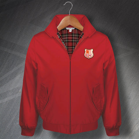 Retro Brentford Classic Harrington Jacket with Embroidered Badge