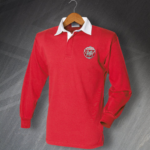 Retro Orient Long Sleeve Football Shirt with Embroidered Badge