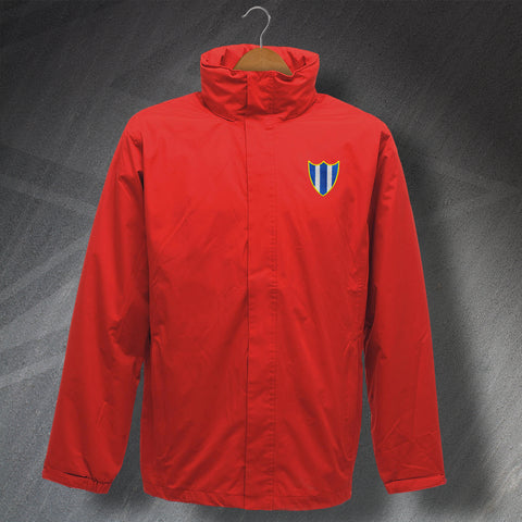 Retro Orient Waterproof Jacket with Embroidered 1965 Badge