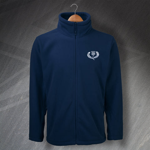 Retro Scotland Rugby Fleece with Embroidered Badge